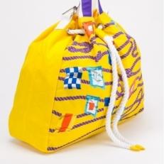 Желтая пляжная сумка 10472-BE