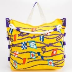 Желтая пляжная сумка 10474-BE