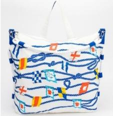 Пляжная сумка белая 10474-BE
