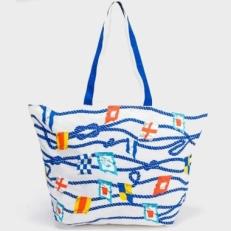 Белая пляжная сумка 10475-BE