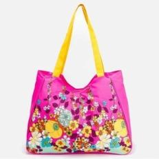 Пляжная сумка 10612-BE розовая