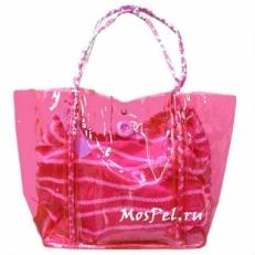 Пластиковая пляжная сумка 10B792-SB fuxia