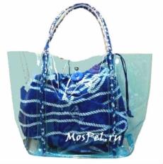 Прозрачная пляжная сумка 10B792-SB blue