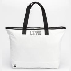 """Белая текстильная сумка """"LOVE"""""""