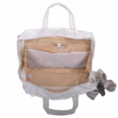 Дорожная сумка 20024-05 бежевая фото-2