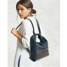 Кожаная сумка-рюкзак KSK 5007 синяя