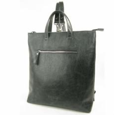 Серый кожаный рюкзак под ноутбук 5515