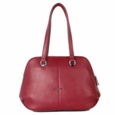 Бордовая женская сумка 2017176 Q32 фото-2