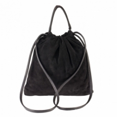 Небольшая замшевая женская сумка 306 черная