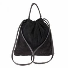 Замшевая сумка мешок 2306 черная