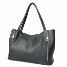 Большая черная сумка женская на плечо 3511