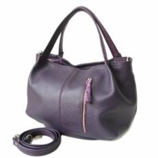 Повседневная женская сумка цвета баклажан 3597