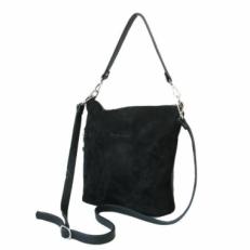 Замшевая женская сумка 303.3 черная
