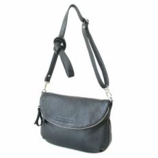 Маленькая кожаная сумочка женская через плечо 401.2 черная