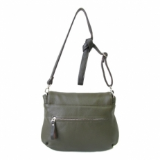 Кожаная сумка через плечо KSK 401.4 оливка фото-2