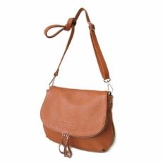Кожаная сумка через плечо KSK 401.4 рыжая