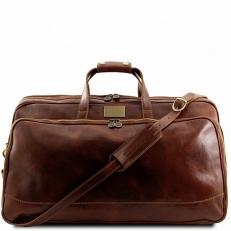 BORA BORA - Большая дорожная кожаная сумка на колесах
