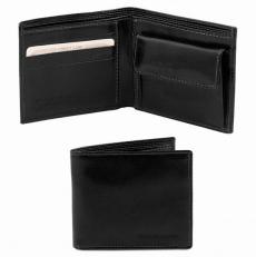 Эксклюзивный кожаный бумажник для мужчин с отделением для монет