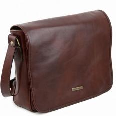 MESSENGER - Кожаная сумка на плечо с 1 отделением большого размера