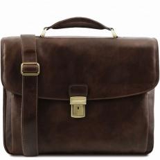 Alessandria - кожаный портфель с одним замком