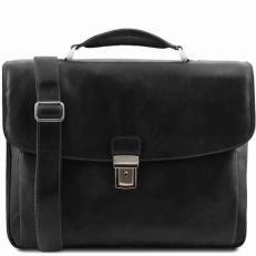 Alessandria - кожаный портфель с креплением на ручку чемодана