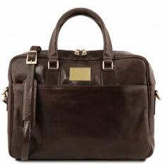 URBINO - Кожаный портфель для ноутбука с передним карманом
