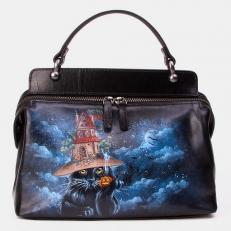 Женская сумка из кожи «Ведьмин кот»