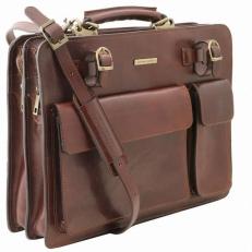 VENEZIA - Кожаный портфель на 2 отделения