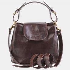 Женская сумочка W0017 темно-коричневая