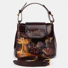 """Маленькая женская сумка c рисунком """"Вечер в сказке"""""""