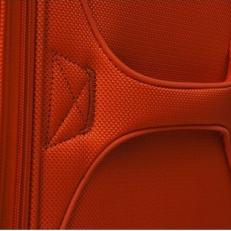 Чемодан на колесах оранжевый фото-2
