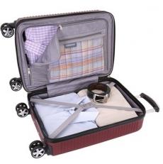Бордовый пластиковый чемодан Vaud фото-2