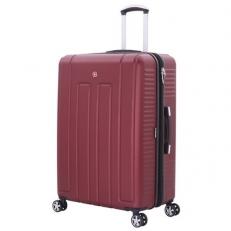 Бордовый пластиковый чемодан Vaud