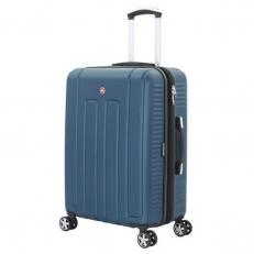 Синий чемодан среднего размера Vaud