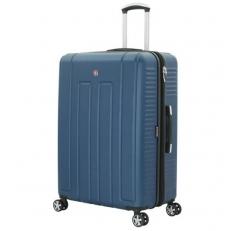 Синий пластиковый чемодан Vaud