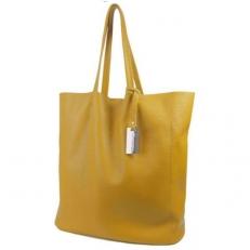 Кожаная сумка-мешок 3002 горчица