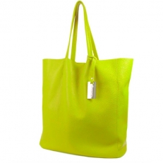 Женская сумка без подкладки 3002 желто-салтовая