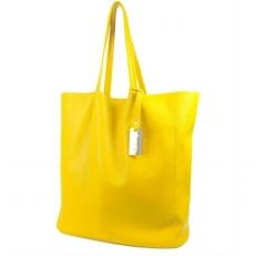 Женская сумка без подкладки 3002 желтая