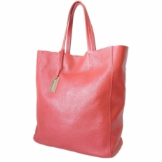 Красная сумка женская шоппер 3002