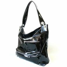 Женская сумка черный лак 3065