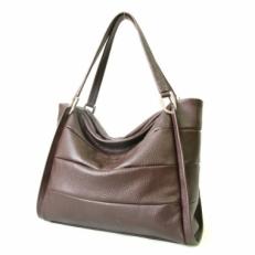 Коричневая женская сумка среднего размера 3091