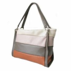 Полосатая женская сумка из кожи 3091