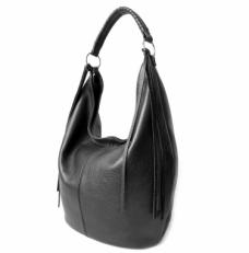 Мягкая черная сумка женская мешок 310.7