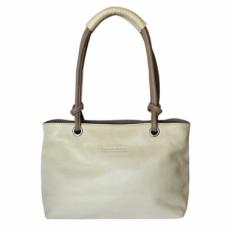 Кожаная женская сумка KSK 3101 бежевая