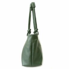 Кожаная женская сумка KSK 3101 зеленая фото-2
