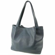 Классическая женская сумка из синей кожи 3126