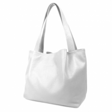 Летняя белая сумка женская с длинными ручками 3126