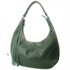 Женская сумка из темно-зеленой кожи 3365