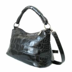 Кожаная женская сумка 3283 черный крок
