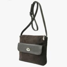 Замшевая сумочка 3504 коричневая